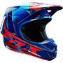Capacete Fox V1 Radeon Blue Trilha Motocross A Sw - Pequeno