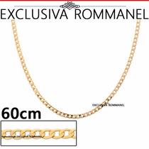 Rommanel Corrente Cordao Masculino 60cm Elo Diamantad 531296