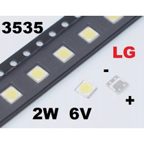 Led Smd 3535 6v 2w Tv Lg Branco Frio Backlight - Frete 7,00