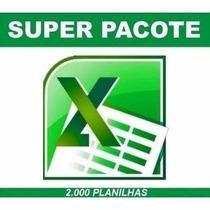 2000 Planilhas Tabela Excel Agilize Trabalho No Escritorio