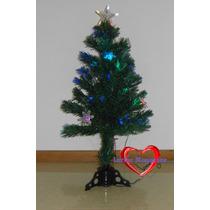 Arvore De Natal Fibra Otica E Estrelas Led Efeito Rgb 120cm