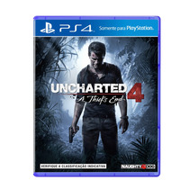Uncharted 4 A Thiefs End Ps4 -mídia Fisica Portugues Lacrado