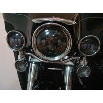 Acessório P/ Harley- Farol Central Led Fumê Electra Road Kin