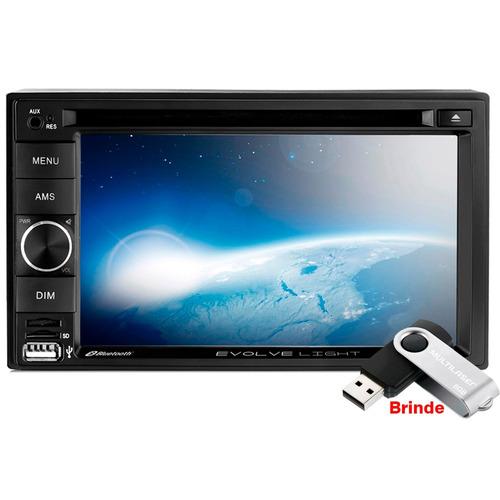 Dvd Player 2 Din Espelhamento Bluetooth Sd Usb + Brinde