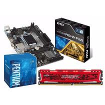 Kit Pentium G4560 + H110m Pro-vh Plus + 4gb 2400mhz C/nf