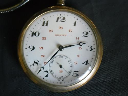 6e24b29d36e Relógio Bolso Zenith Plaquetado 110gr. De Cofre Perf Coleção