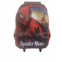 Mochila Infantil Homem Aranha Venom De Rodinhas