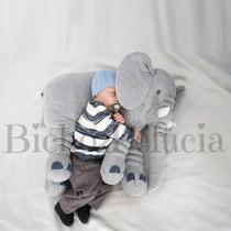 Almofada Travesseiro Elefante Bebê Malha 100% Algodão 67cm