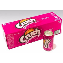 Refrigerante Crush Strawberry Morango - Caixa 24 Latas 355ml