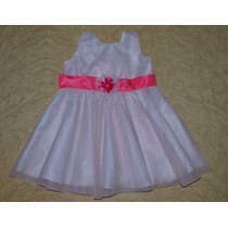 Vestido Festa Infantil Branco E Rosa Luxo Princesa