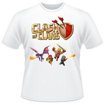 Camiseta Clash Of Clans Jogo Celular Camisa Adulto Masculina