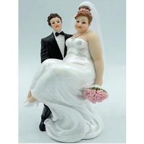 Casal Noivinhos De Resina Para Casamento Noiva Gordinha