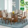 Conjunto Sala De Jantar Vívian Madesa Mesa Com 8 Cadeiras