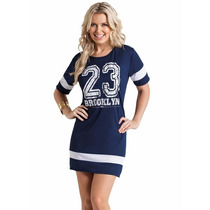 Vestido Feminino Modelo Esportivo , Baseball Estampa Numero