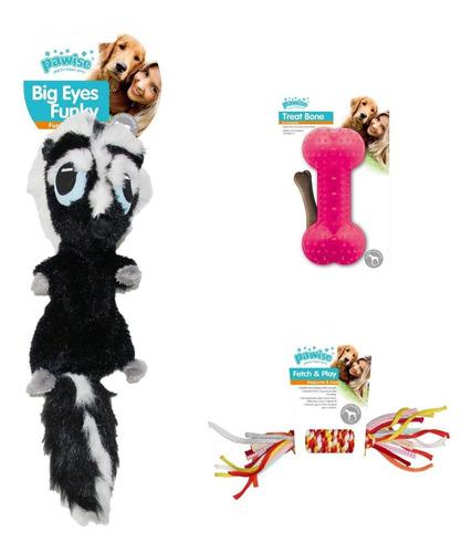 Kit 3 Brinquedos Gamba Pelúcia Grande E Mordedor Pawise
