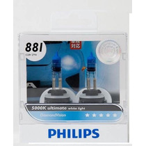 Kit Lampada Original Philips H27 / 881 Diamond Vision 5000k