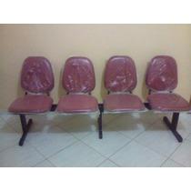 Longarina 04 Lugares Diretor Cadeira Poltrona ( Avmoveis )
