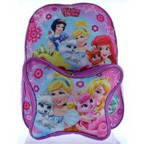 Mochila Disney Princes Palace Animais Escola Bag W / Lunch B