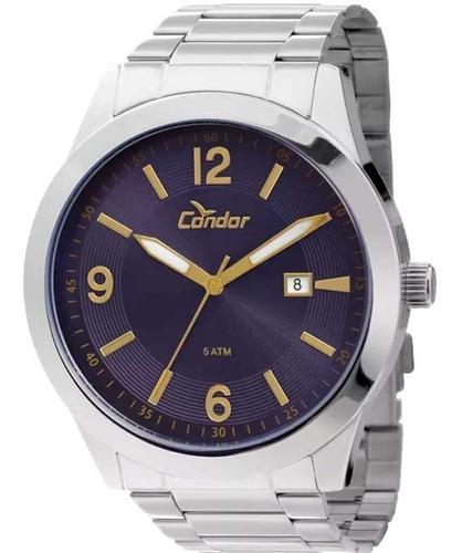Relógio Condor Masculino Prata + Brinde