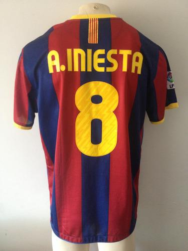 Camisa Barcelona Nike  8 Iniesta Campeão Champions 10 11. R  200 e3af1d787f964