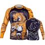Camisa Lycra Venum Rash Guard Tiger Preto Manga Comprida G