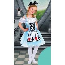 Vestido Fantasia Alice No Pais Das Maravilhas Pronta Entrega