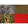 Tecido Pelúcia Estampa De Animais Onça Zebra Tigre 5 Metros