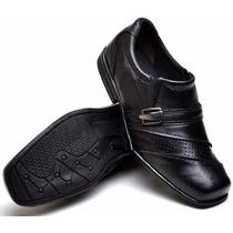 Sapato Social Masculino Infantiil Menino Conforto Cor Preto