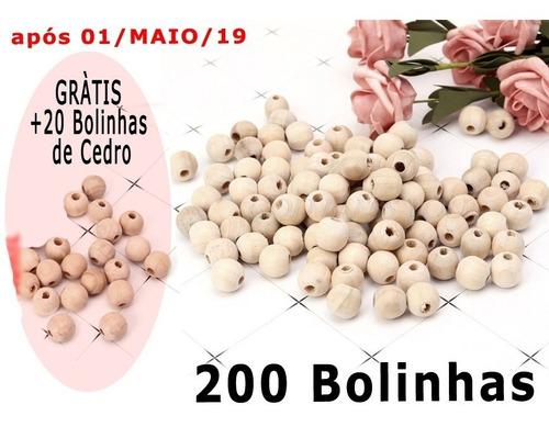 200x Cedro Bolinhas Furo Roupas Anti Traça Mofo Bolor