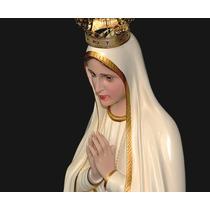Escultura Imagem Nossa Senhora De Fátima - 120cm C/ Coroa