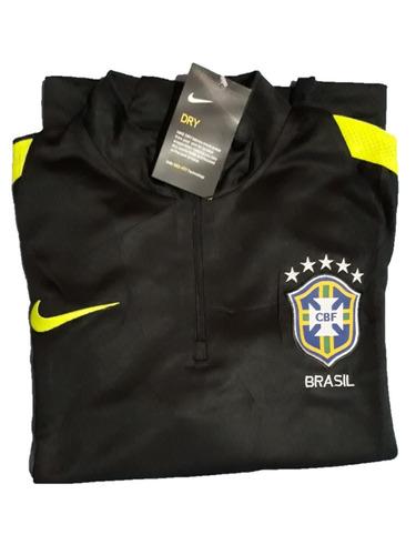 Conjunto Agasalho Treino Nike Seleção Brasileira Copa Russia. Preço  R  329  9 Veja MercadoLibre c9481dffd4eef