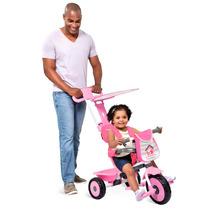 Triciclo Infantil Meninas Passeio Soft Bandeirante Rosa