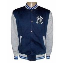 Blusa Moletom New York Yankees Az Ciano E Cinza College