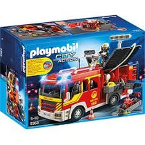 Playmobil Caminhao De Bombeiro Com Equipamento Sunny