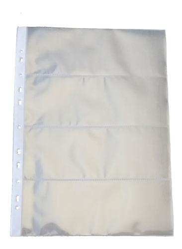 10 Folhas  Para Cédula  4 Divisões Polipropileno