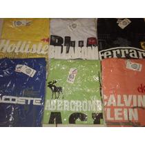 Kit C/10 Camisas Masculina Várias Marcas E Cores