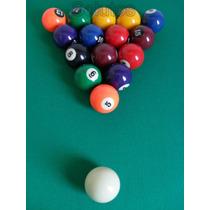 Jogo 16 Bolas 50mm Importado - Bilhar / Snooker / Sinuca