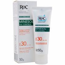 Roc Minesol Oil Control Fps30 50g Gel Controle Da Oleosidade