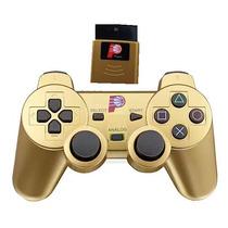 Controle Sem Fio Playstation 2 2.4ghz Dualshock Ps2 Dourado