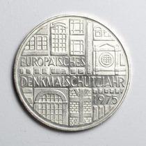 Moeda Prata Alemanha Comemorativa De 5 Marcos Ano De 1975