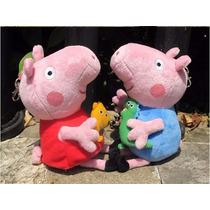 Bonecos De Pelucia Peppa Pig E George Pig Pronta Entrega