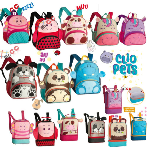 ed9877e59 Kit Mochila+lancheira Escolar Infantil Animais Bichinho Zoo à venda ...
