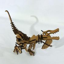 Quebra Cabeça 3d - Coleção Dinossauros - Baroyonyx Mdf
