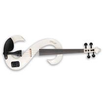 Violino Elétrico Stagg Evn 4/4 Whc Branco Com Estojo E Arco