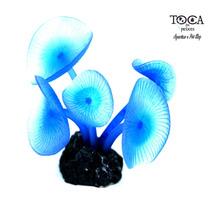 Enfeite De Silicone Soma Coral Mushroom Long Stem Azul 40172
