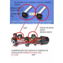Conector Cilindro Mestre Tubo Freio Fusca Itamar Kit 02 Peça