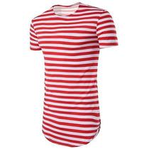 Camisa Camiseta Oversized Longline Swag Listrada Stecchi à venda em ... 934700a0c2d