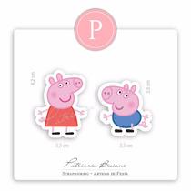 Peppa Pig E George - 50 Recortes Apliques P/ Lembrancinha
