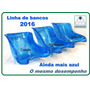 Banco De Kart Azul Paragon Ergonomics (conforto/agressiva)