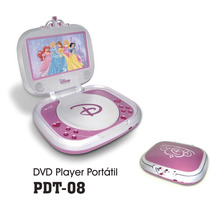 Dvd Player Portátil Dotcom Pdt-08 Tela De 7 Disney Princesa